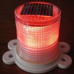 Baliza Solar de color Rojo con LED