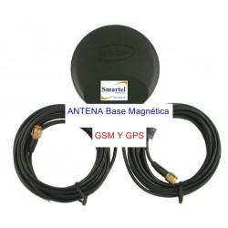 Antena GPS + GSM base magnética SMA