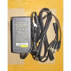 Transformador CCTV 12V 4A con pulpo de 4