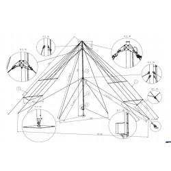 Antena HF 1.8 a 16 Mhz. (500 a 1000km)