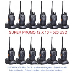 Pack Promocional 12x10 BF888s UHF